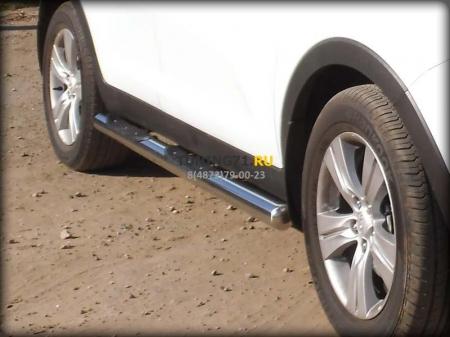 Hyundai Santa Fe Classic 2000-2012г.в.-Пороги d-76 степ